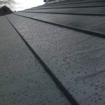 CLOSE UP OF SLATE EFFECT ON ROOF