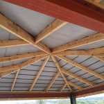 SLATE EFFECT ROOF ON GAZEBO IN EAST SLIGO