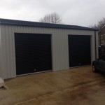 2 ROLLER DOORS ON SIDE OF BUILDING