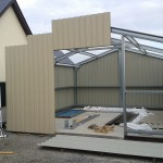 GABLE CLADDING BEEN ERECTED